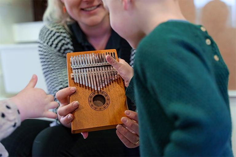 Peuter instrument muziekbeleving